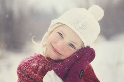Outside photo of child in winter
