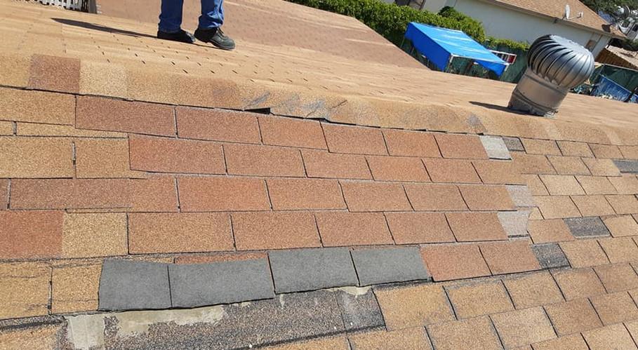 GJ Roofing Job Before