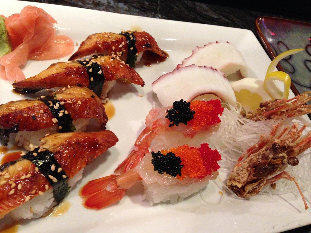 Fresh Water Eel   Sweet Shrimp and Octopus Nigiri