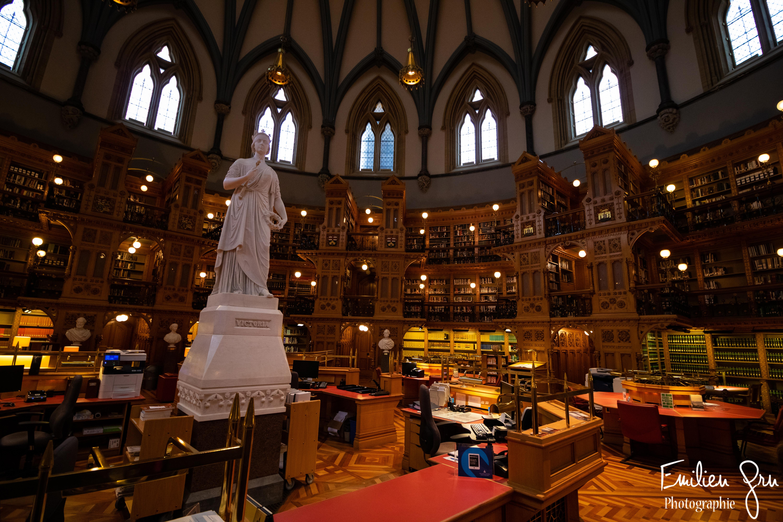 Bibliothèque Victoria Parlement Ottawa -