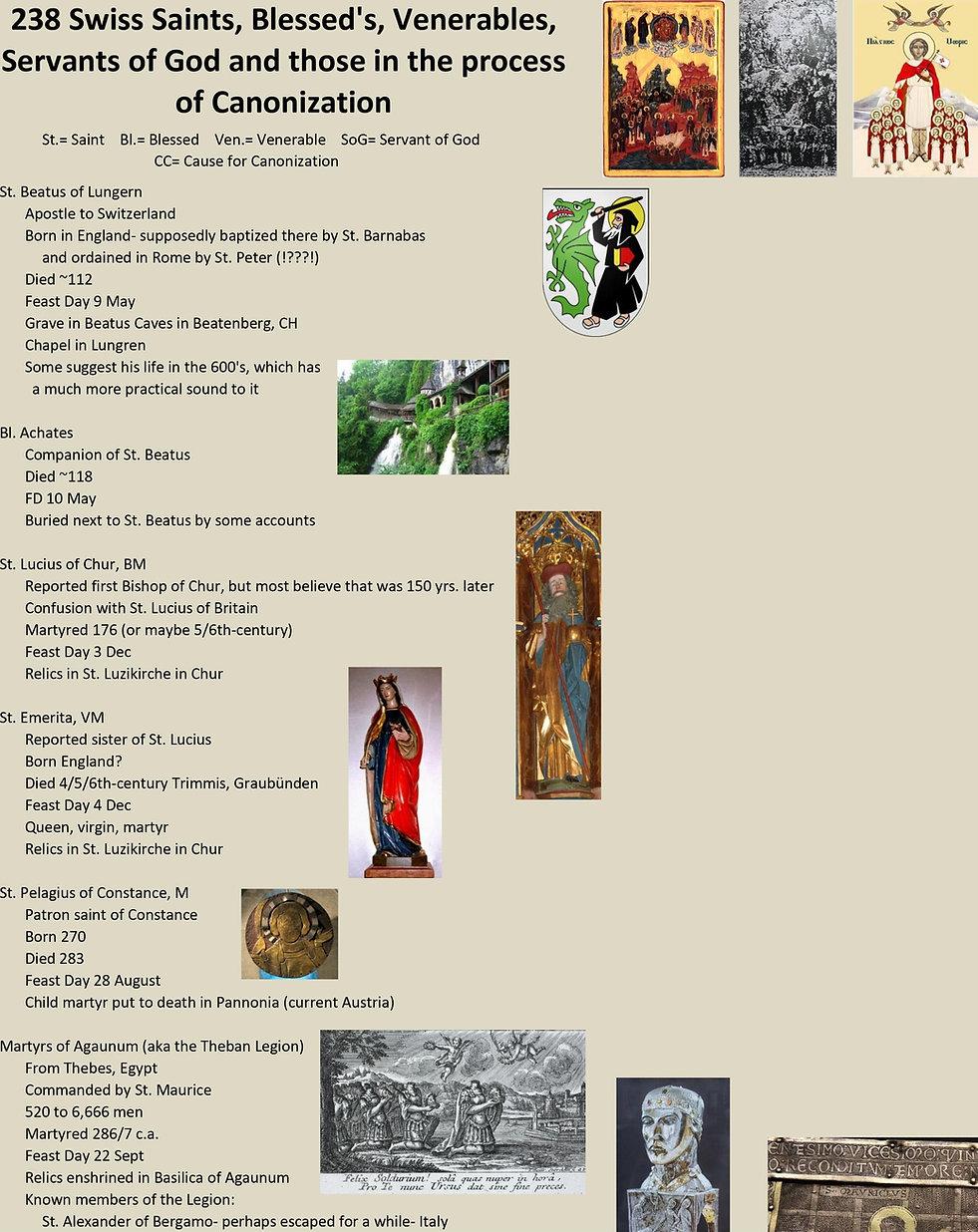 Liste de tous les saints suisses 1 sur 31