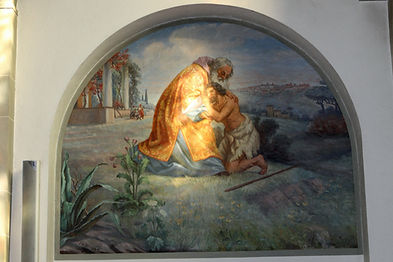 Prodigal son painting Swiss Switzerland Catholic Church