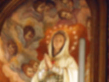 Mother Mary and angels Montichiari Italy