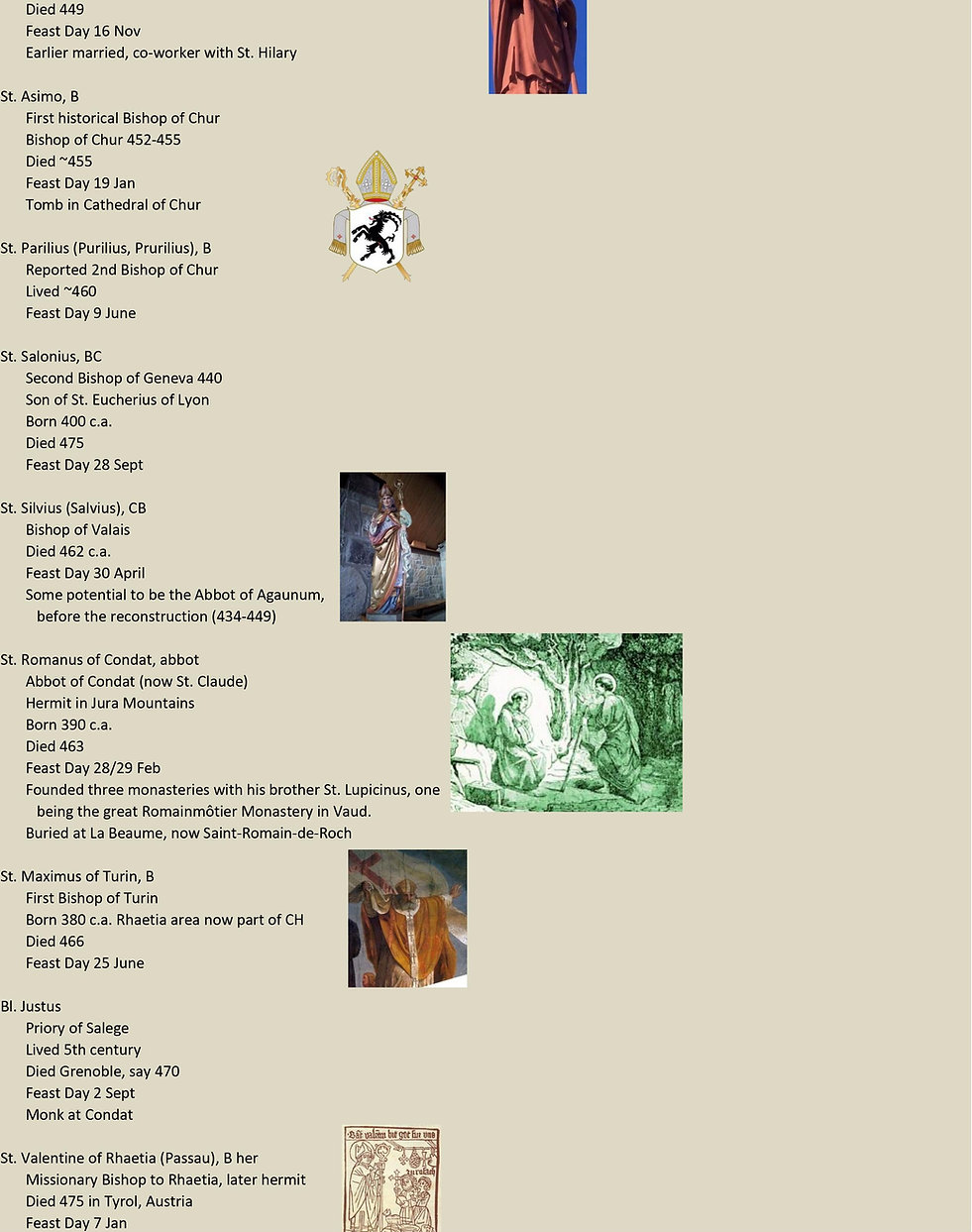 Liste de tous les saints suisses 5 sur 31