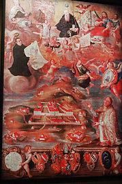 Muri Catholic Monastery painting Switzerland