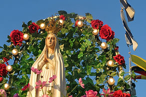 Mother Mary statue cruise ship Lake Constance Switzerland