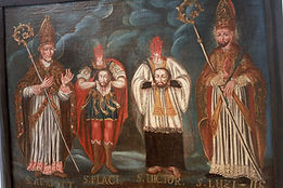 painting saints of Sion Switzerland Cathedrale de Notre-Dame