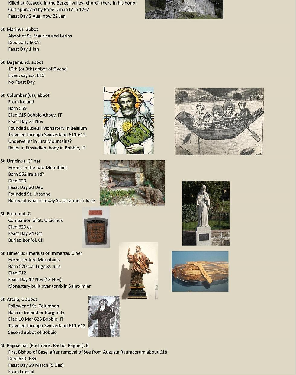 Liste de tous les saints suisses 9 sur 31