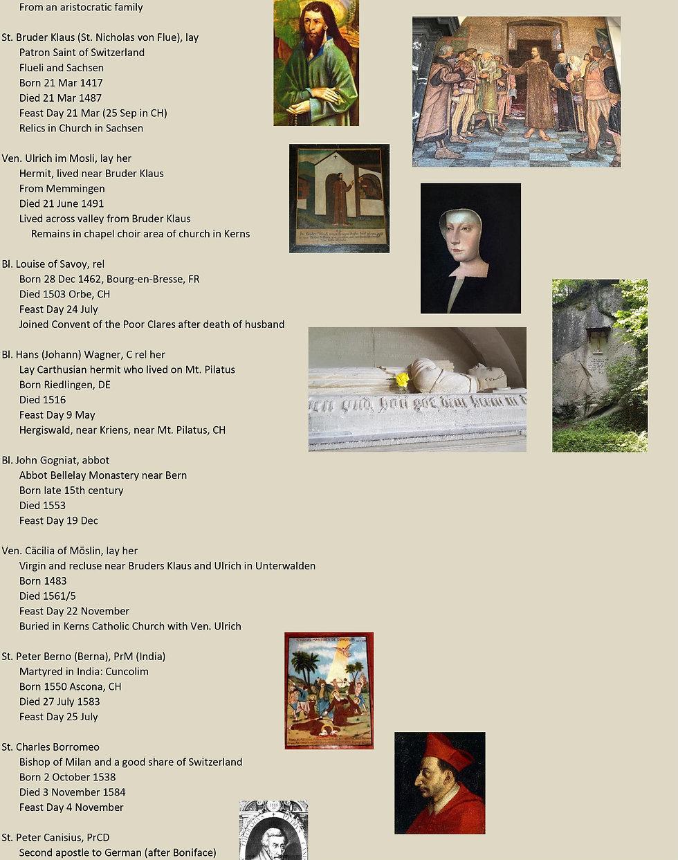 Liste de tous les saints suisses 22 sur 31