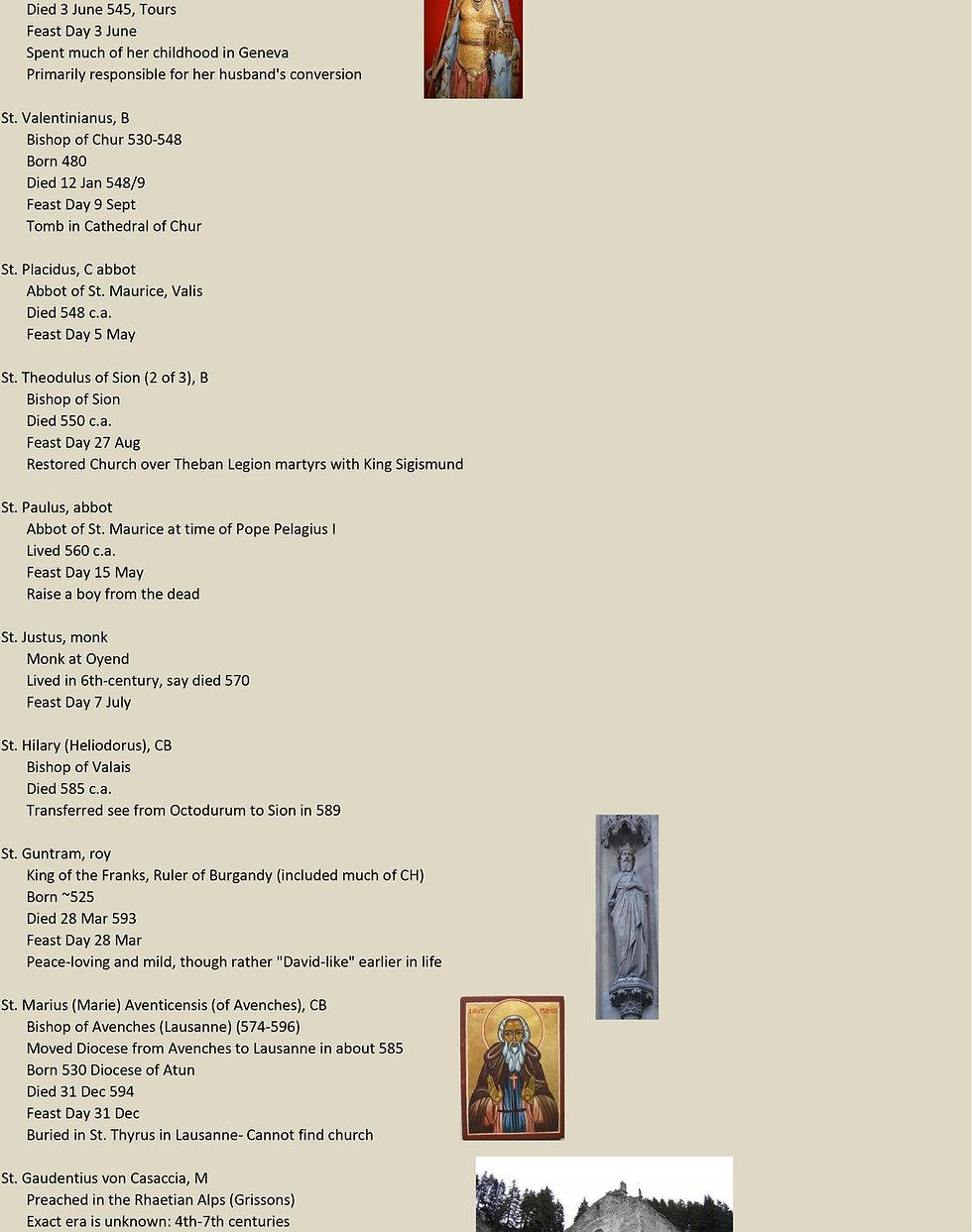 Liste de tous les saints suisses 8 sur 31
