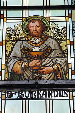 Saint Burkardt Switzerland stained glass window