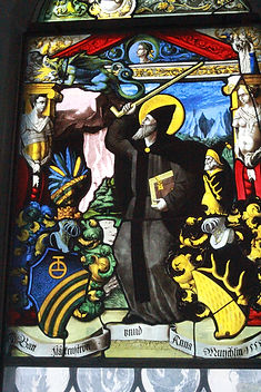 Saint Achates Lungern Switzerland stained glass window