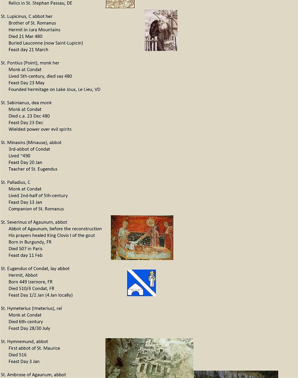 Liste de tous les saints suisses 6 sur 31