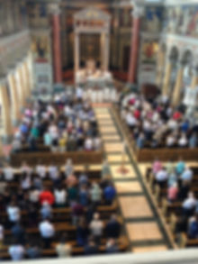 Mass at Catholic Church in Zurich Switzerland