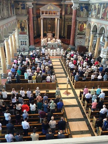Mass at Catholic Church in Zurich Switzerland