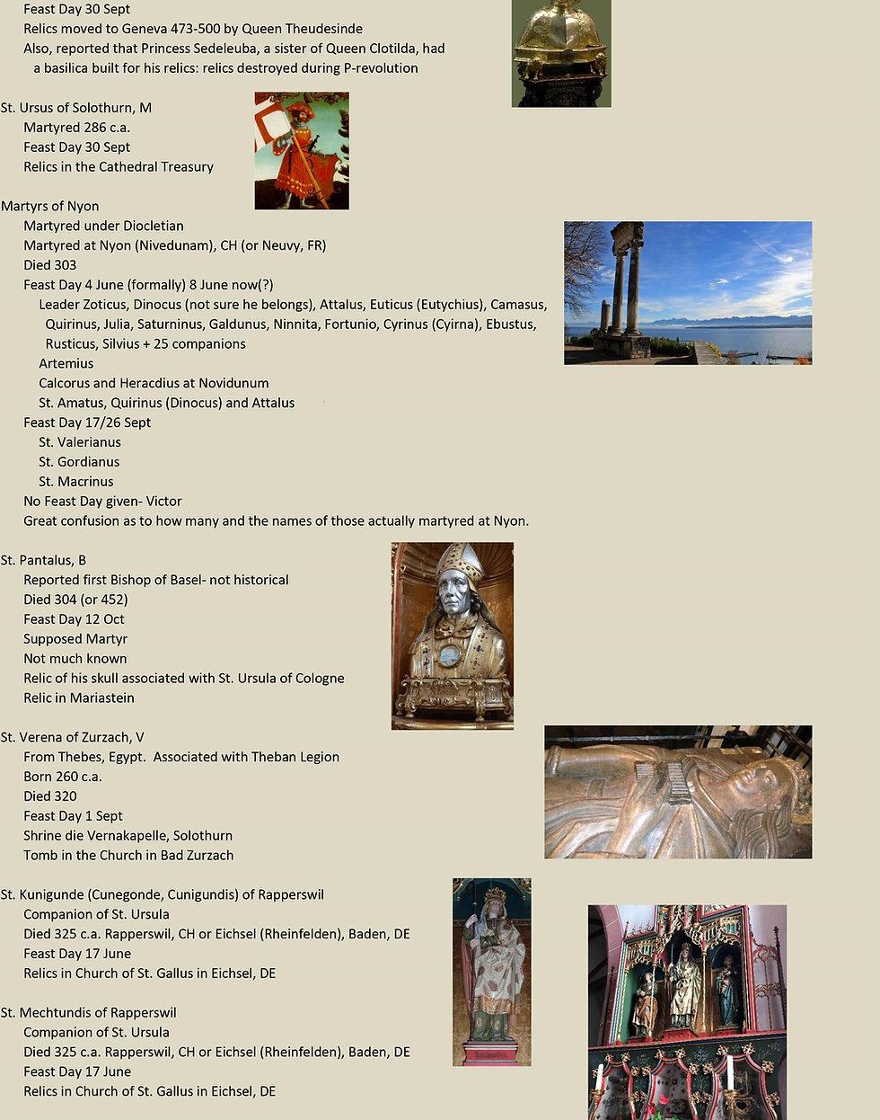 Liste de tous les saints suisses 3 sur 31