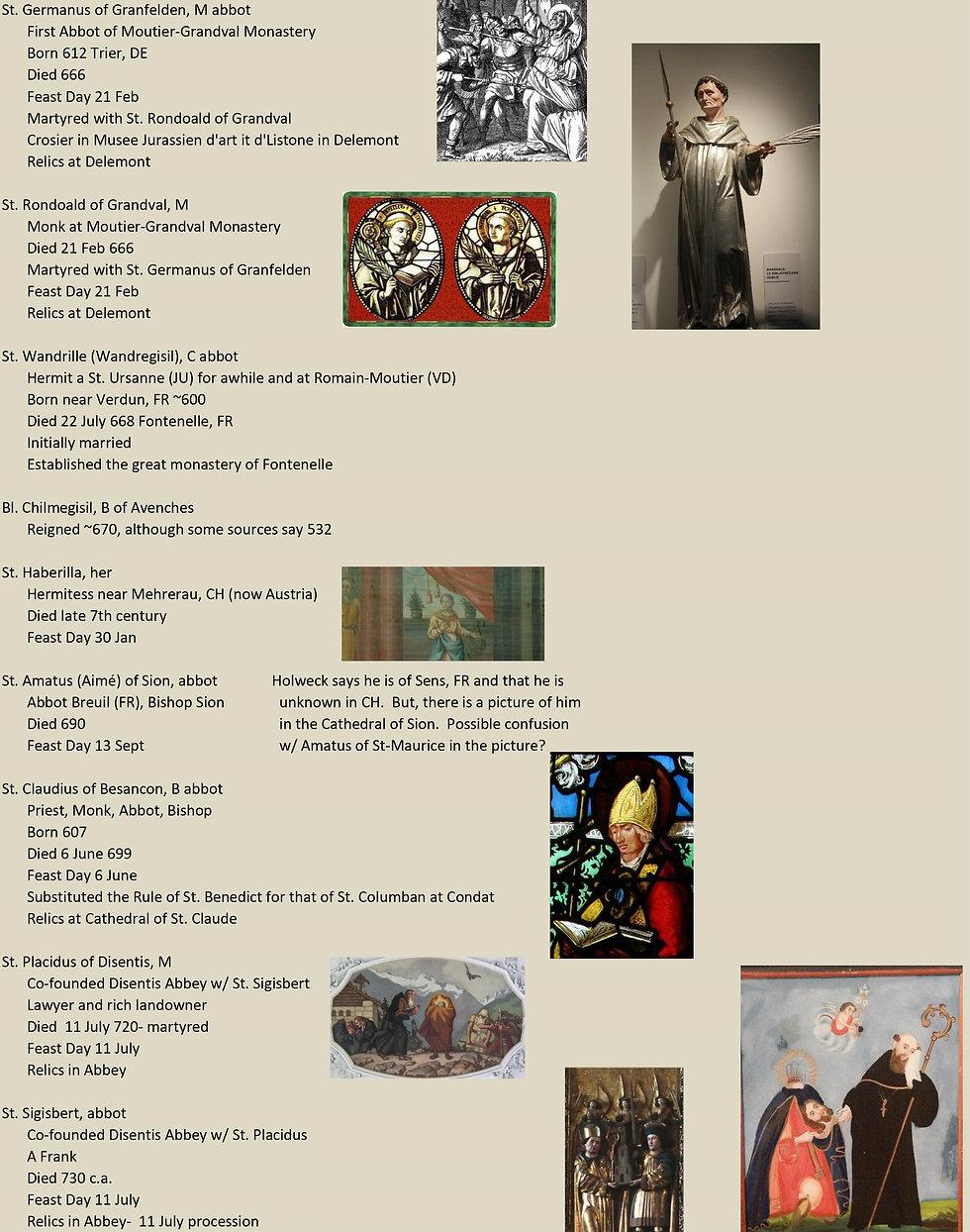 Liste de tous les saints suisses 11 sur 31