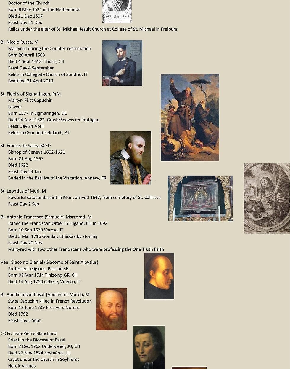 Liste de tous les saints suisses 23 sur 31