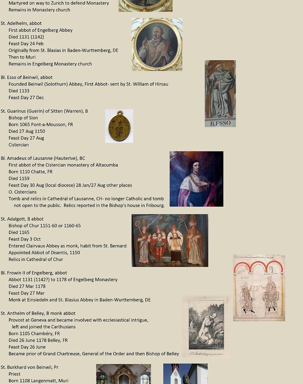 Liste de tous les saints suisses 19 sur 31