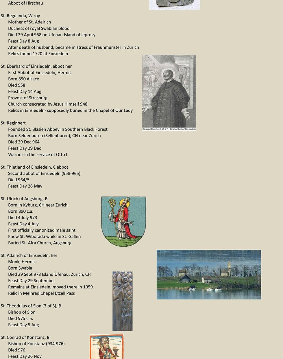 Liste de tous les saints suisses 15 de 31