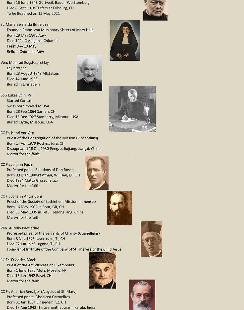 Liste de tous les saints suisses 25 de 31
