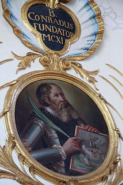 Painting Blessed Conrad of Seldenburen: Engleberg Switzerand