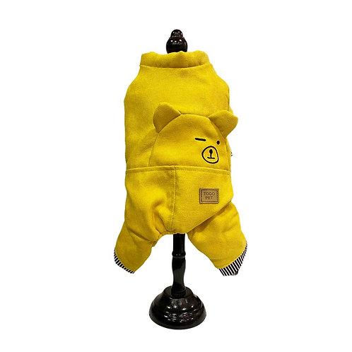 Warm jumpsuit -  yellow