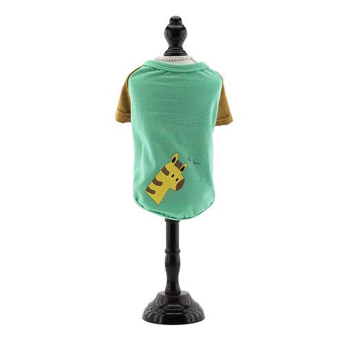 Green T-Shirt with Giraffe