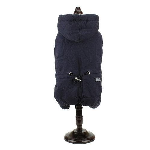 Dark blue winter overcoat