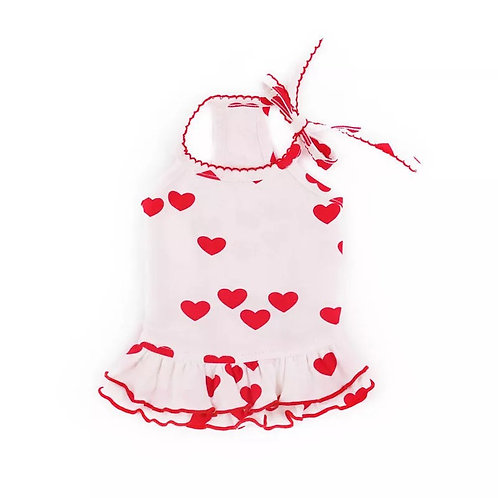 Dress with hearts