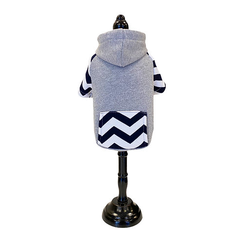 Hoodie with stripes