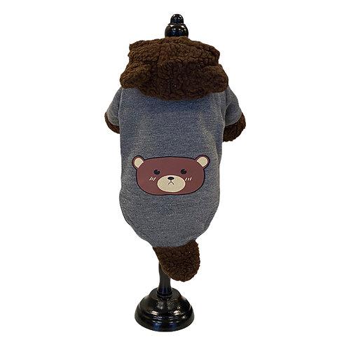 Warm hoodie with bear
