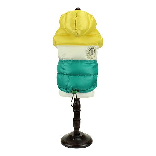Winter overcoat - Green/Yellow