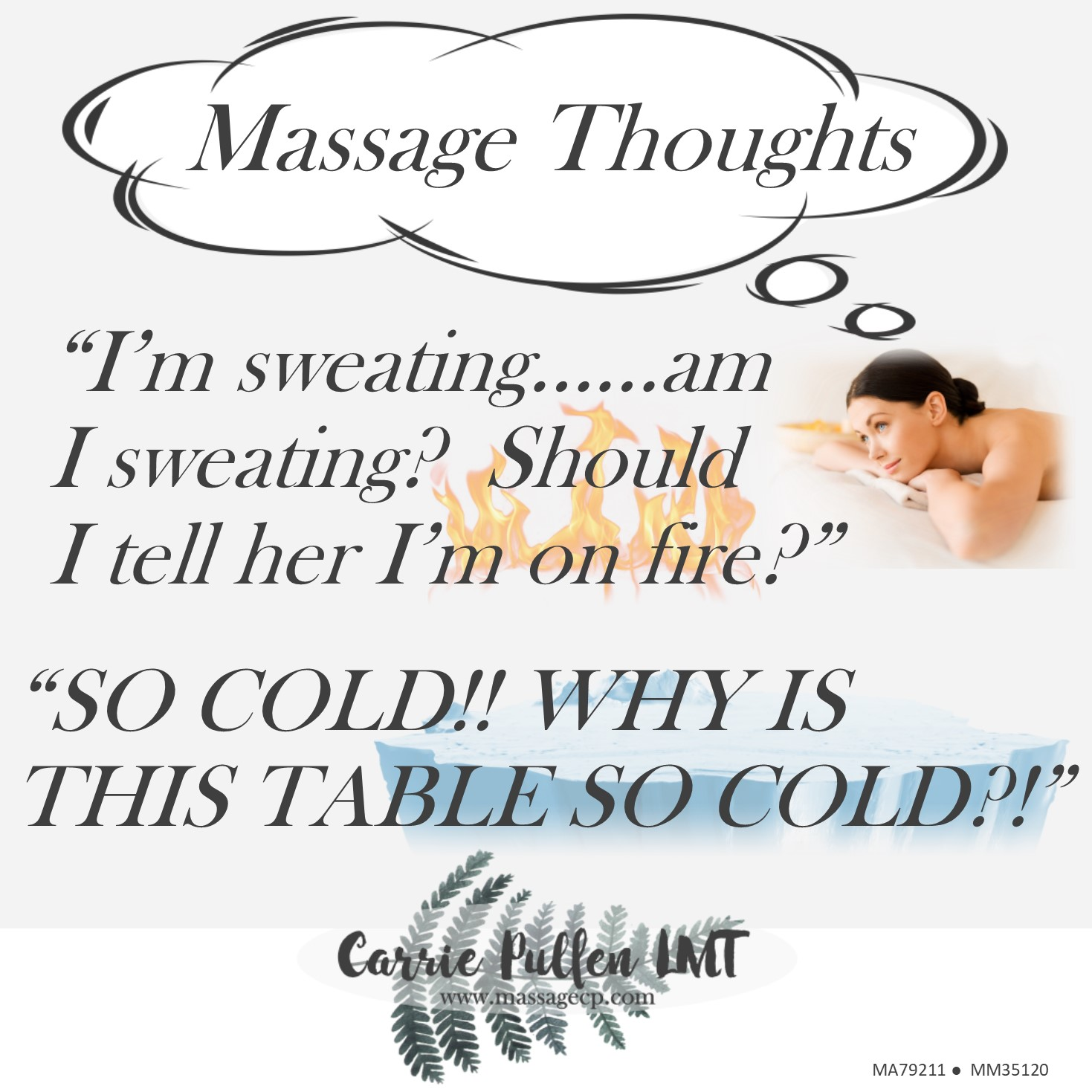 Massage Thoughts.....temperature