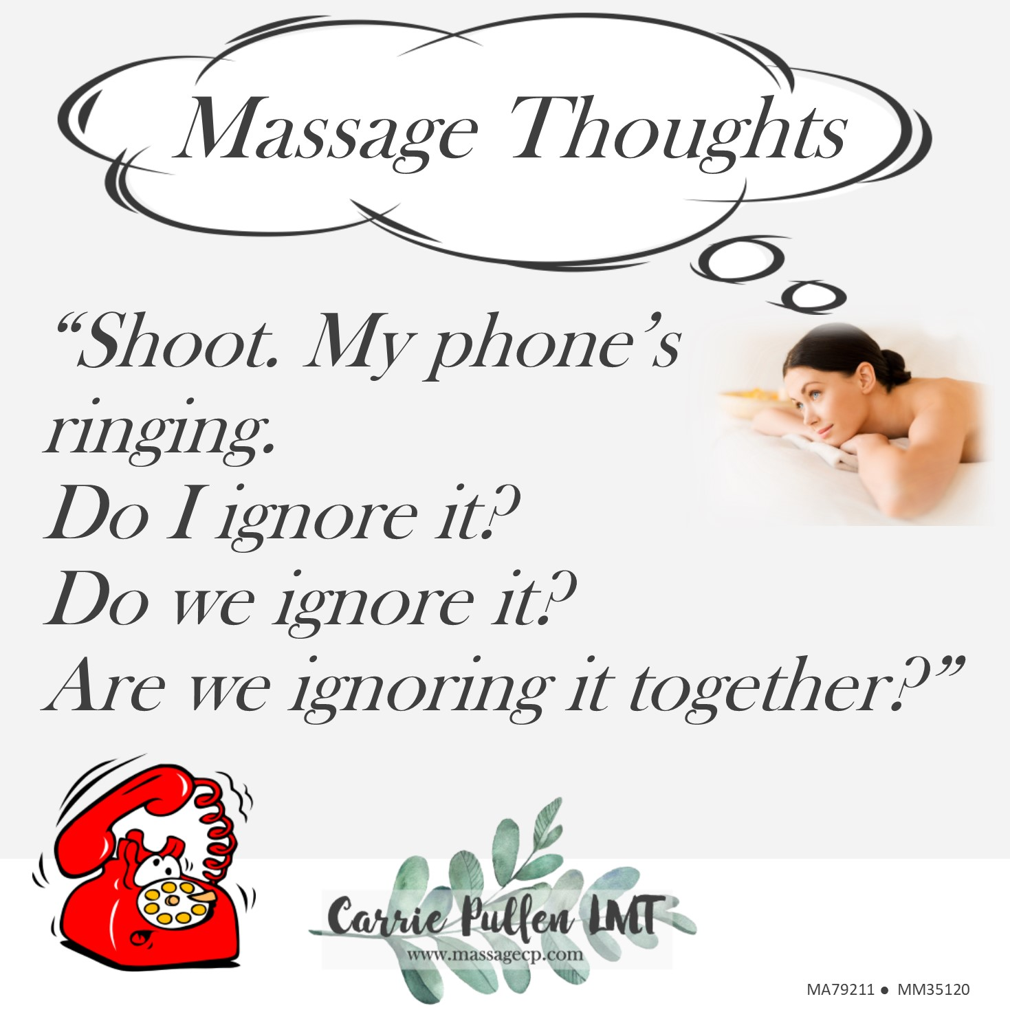 Massage Thoughts....phone