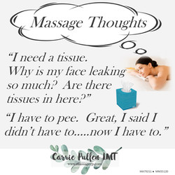 Massage Thoughts....tissue
