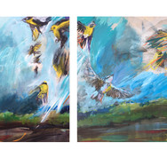 Triptych: Warblers of the Tiffany Bottoms