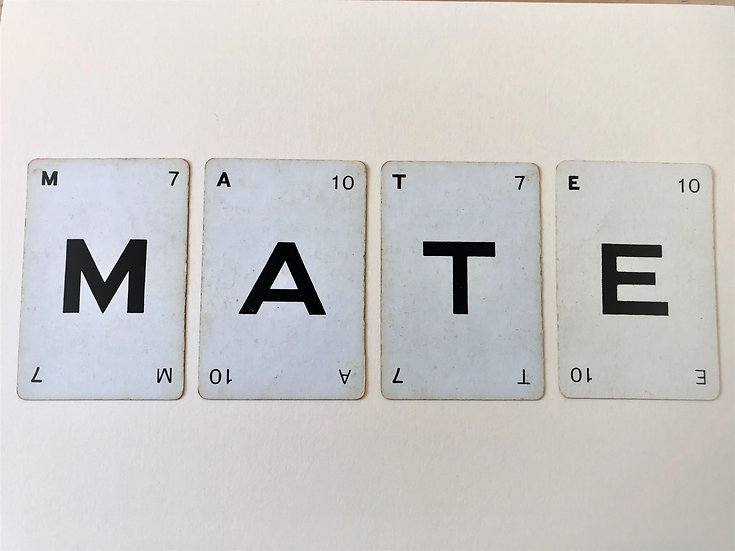 """Mate"" Vintage Greetings Card"