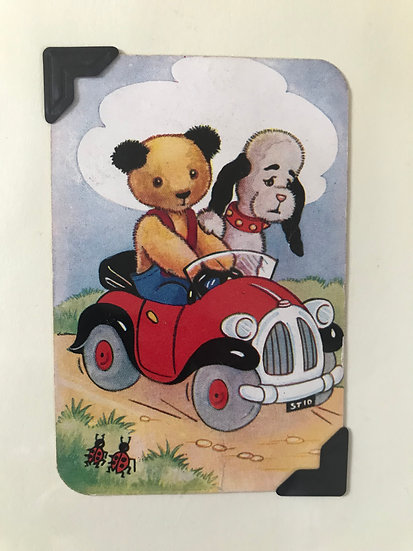 Sooty and Sweep in Car Greetings Card