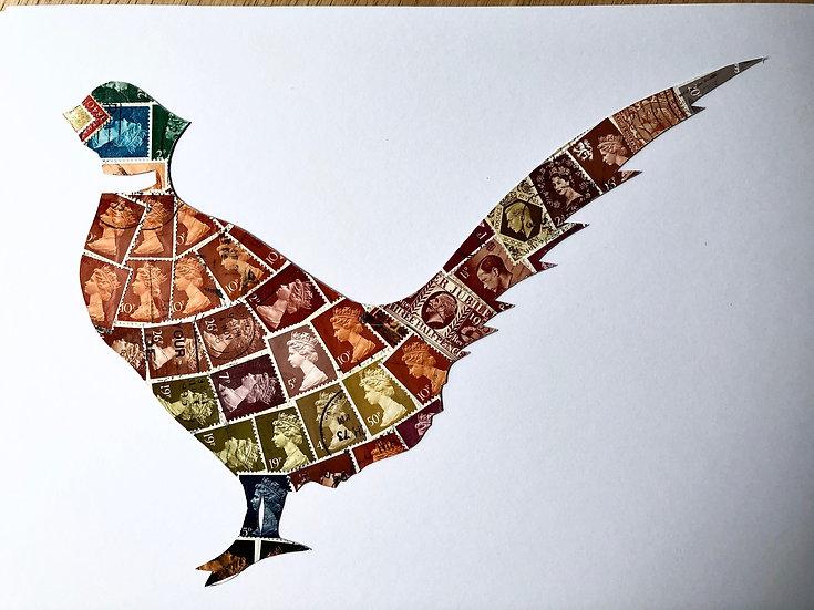 Pheasant Vintage Postage Stamp Picture