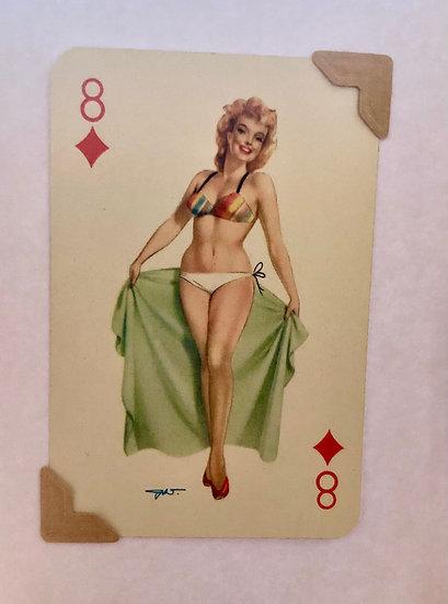 Darling Eight of Diamonds Greetings Card