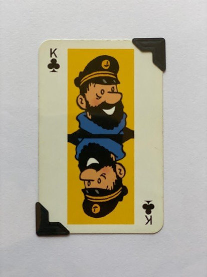 Captain Haddock Tintin Greetings Card