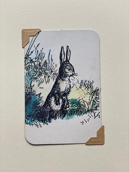 Rabbit Pooh Bear Greetings Card
