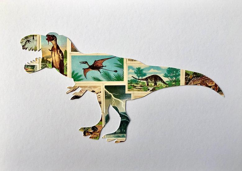 Tyrannosaurus Rex Vintage Tea Cards Picture