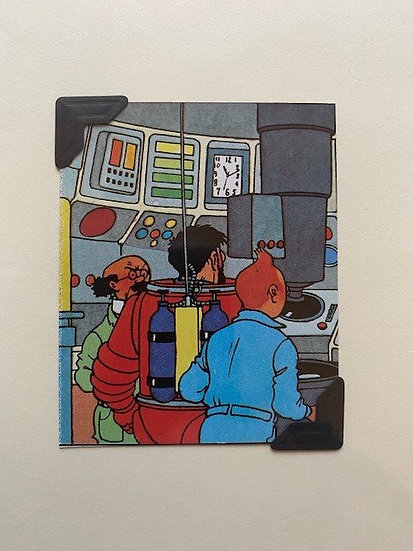 Tintin in Space Greetings Card