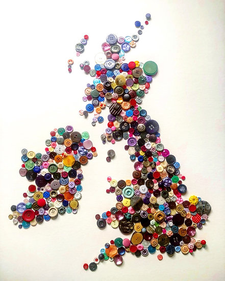 Glutton of Buttons UK map