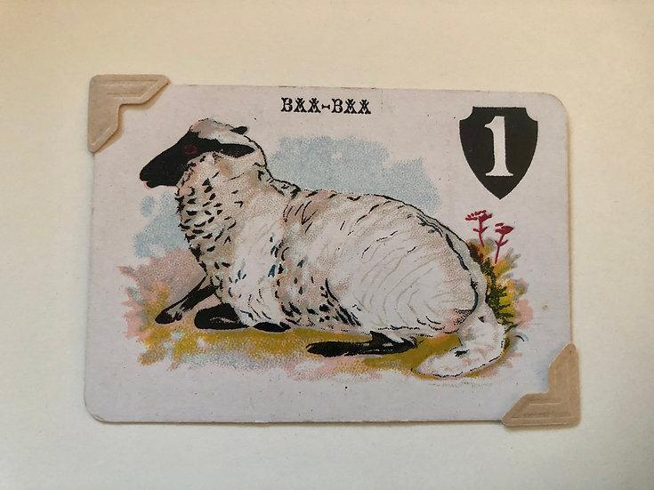 Sheep Victorian Greetings Card