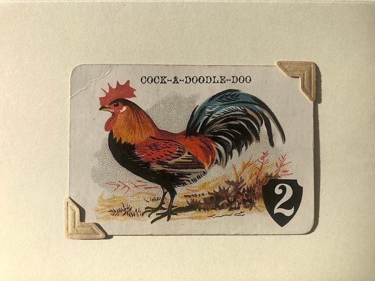Cockerel Victorian Greetings Card