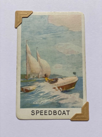 Speedboat Greetings Card