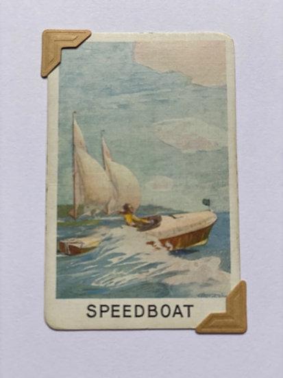Speedboat Greetings Card